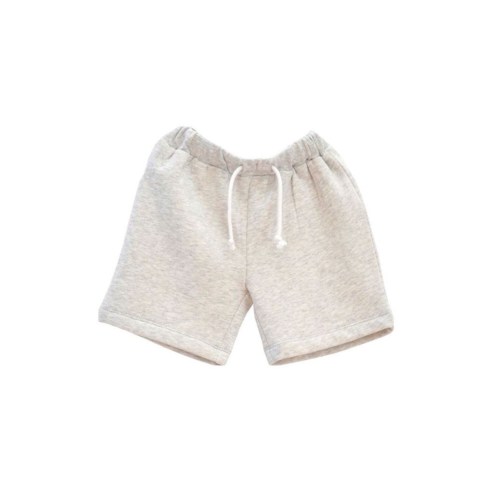 Short molleton gris clair