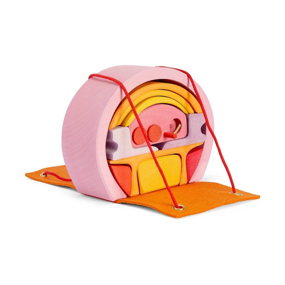 Maison mobile rose/ orange
