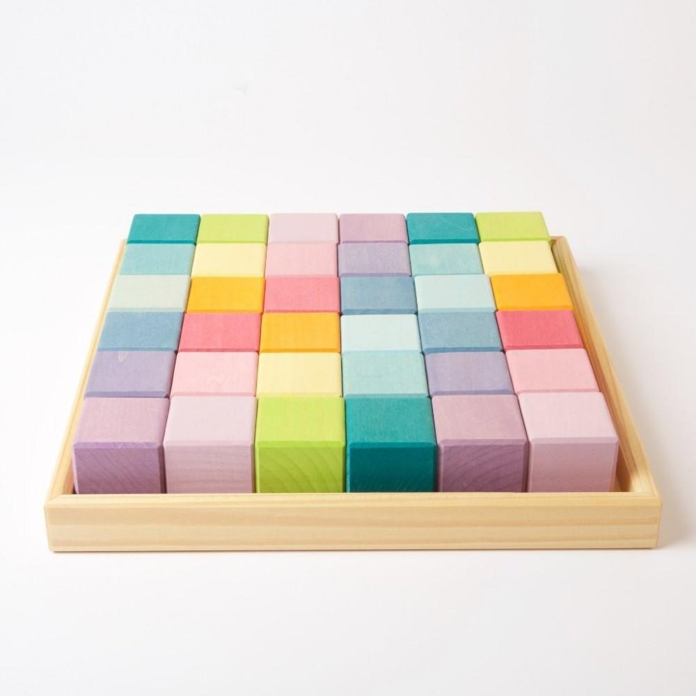 36 cubes pastel