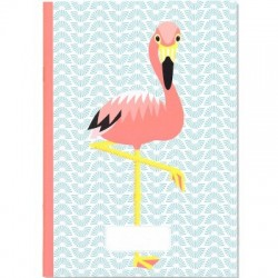 Cahier A5 flamant rose