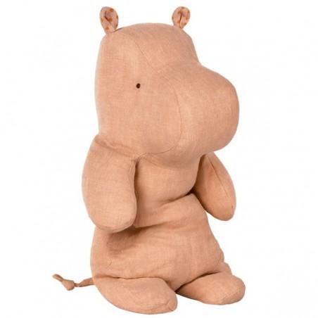 Doudou Hippopotame - rose fané