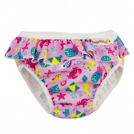 Maillot couche Pink sea life