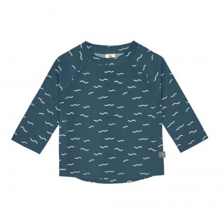 Tshirt lycra Manches Longues, Vagues Bleu