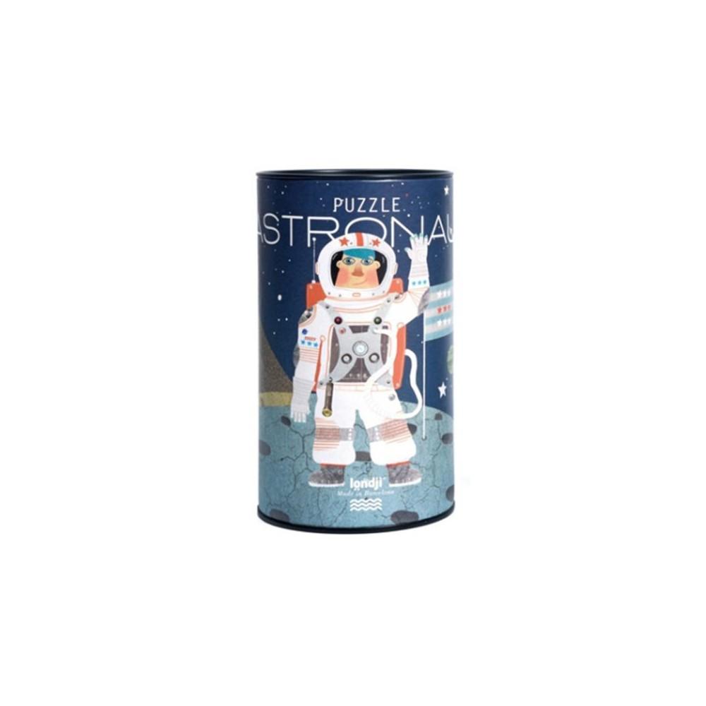 Puzzle tube astronaute