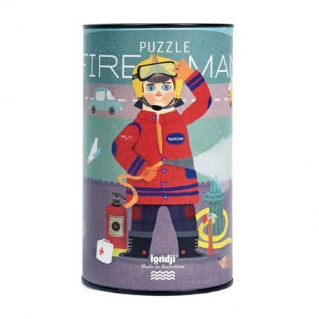 Puzzle tube Fireman